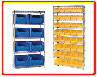 quantum storage systems wire shelving units