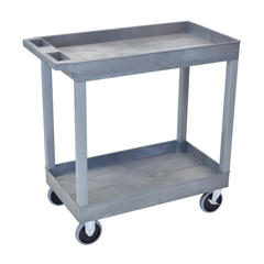 LUXEC11HD-G - Luxor2-Shelf High Capacity Tub Cart with Heavy Duty 5 Casters