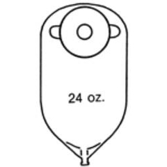 MON82064900 - Nu-Hope Labs11 Round Urinary Pouch, 1.25  Stoma, 10EA/BX