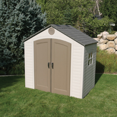 New - Lifetime 8 X 5 Outdoor Storage Shed 6406   bunda-daffa.com