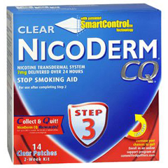 Stop Smoking Aid Nicoderm® CQ™ 7 mg / 24 Hour Transdermal Patch, 14EA/PK Health Fitness Skin Care Beauty Supply Deals