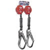 Twin Turbo� Fall Protection Systems (Line Length : 6.0 ft, Includes : (2) TurboLite PFLs w/o Carabiners, Fastening Method : Twin D-Ring Connector, Aluminum Locking Rebar Hooks)