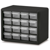 Plastic Storage Hardware and Craft Cabinets (Color : Black, Quantity : 4 per Case, Size : 10.5 x 8.5 x 6.5 )