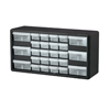 Plastic Storage Hardware and Craft Cabinets (Color : Black, Quantity : 2 per Case, Size : 20 x 10 x 6.5 )