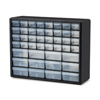 Plastic Storage Hardware and Craft Cabinets (Color : Black, Quantity : 2 per Case, Size : 20 x 16 x 6.5 )