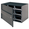 19-Drawer Storage Hardware and Craft Organizerwith Locking Door (Color : Gray, Quantity : 1 Each)