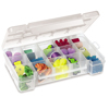 Hardware and Craft Storage Cases (Color : Clear, Quantity : 12 per Case, Size : Small)