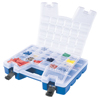 Plastic Portable Hardware and Craft Parts Organizer (Color : Blue, Quantity : 6 per Case, Type : Regular)