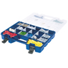Plastic Portable Hardware and Craft Parts Organizer (Color : Blue, Quantity : 4 per Case, Size : Large)