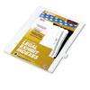 Kleer-Fax® 80000 Series Alpha Side Tab Legal Index Divider