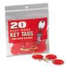 MMF Industries™ Snap-Hook Self-Locking Octagonal Key Tags