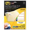 Post-it® Super Sticky Removable File Folder Labels