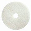 "White Polishing Pads; Diameter : 18"" Diameter; Color : White; Quantity : 5 Pads"
