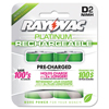 Rayovac® Platinum Rechargeable NiMH Batteries