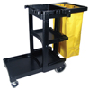 Multi-Shelf Cleaning Cart (Height [Nom] : 38 1/4 in, Depth [Nom] : 45 in, Width [Nom] : 20 in)