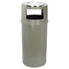 Rubbermaid� Commercial Ash/Trash Classic Container without Doors (Finish : Textured, Global Product Type : Waste Receptacles-Receptacle with Ashtray, Diameter [Nom] : 18 in)