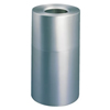 Rubbermaid� Commercial Atrium. Aluminum 35-Gallon Radius Top Waste Container (Height [Nom] : 32 1/4 in, Opening Type : Open Top, Opening Size [Nom] : 9 1/2 in)