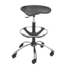 Safco� Sit-Star� Stool (Color: Black, Material(s): Polyurethane (seat), Size: 26 dia. x 27 to 34 h)