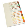 S J Paper Table of Contents Index Dividers