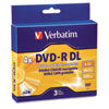 Verbatim� DVD-R DL (Global Product Type : CDs/DVDs-DVD-R DL, Disk Type : DVD-R DL, Capacity (Video) : 240.0 min)